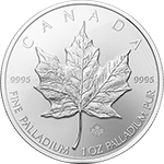 Canadian Maple Leaf Palladium Coin