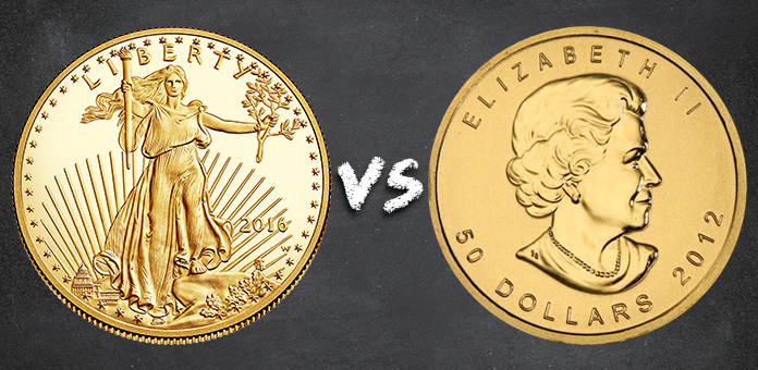 american gold eagle vs canadian gold maple