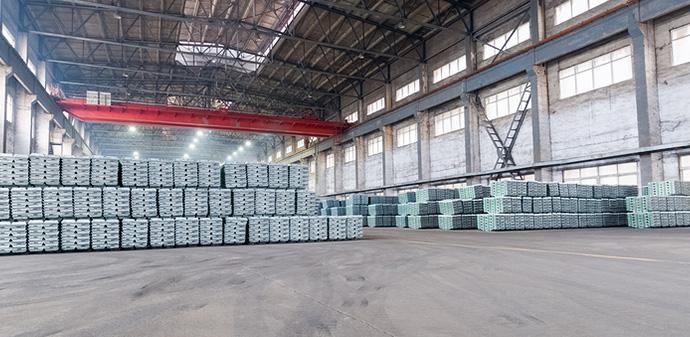 platinum supply in warehouse