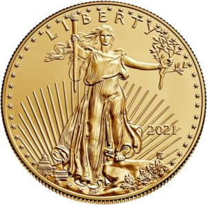 2021 american eagle gold one ounce bullion coin obverse old design